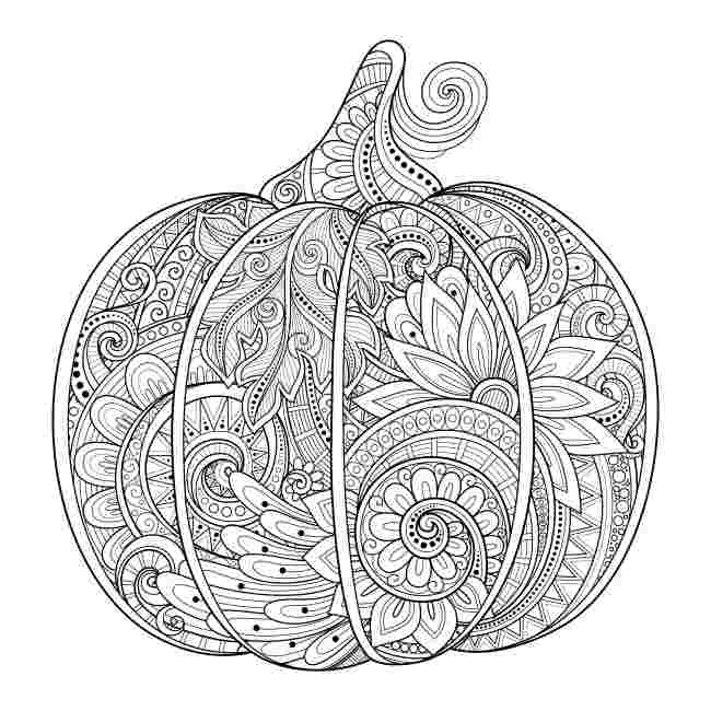 free printable pumpkin coloring pages for adults free