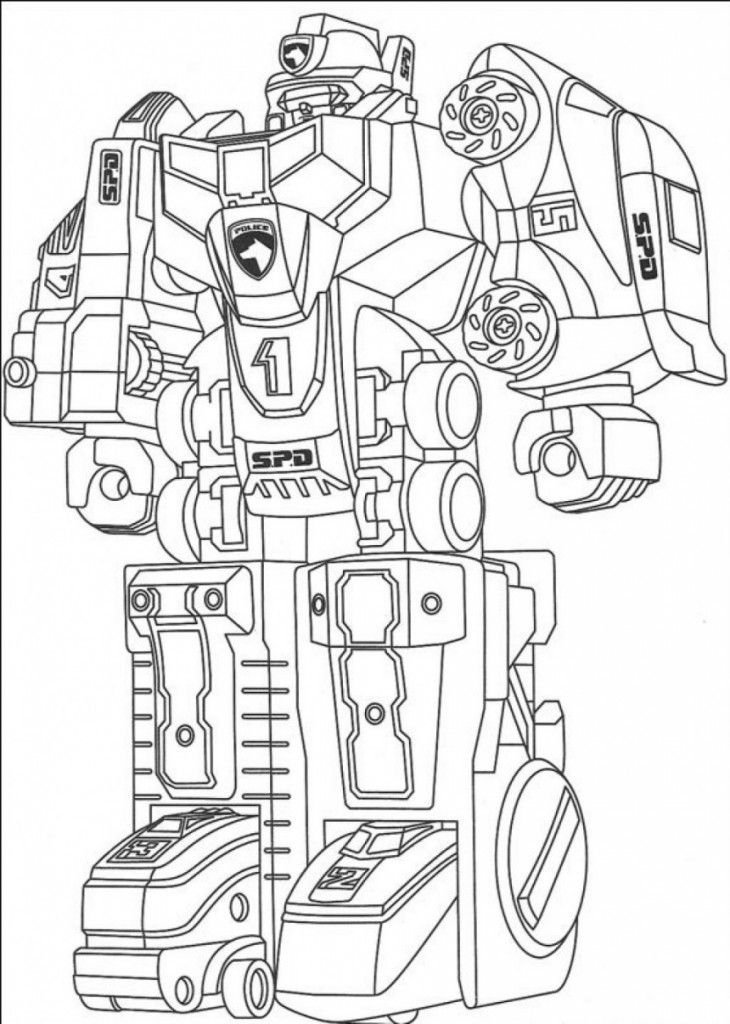 free printable robot coloring pages for kids power rangers