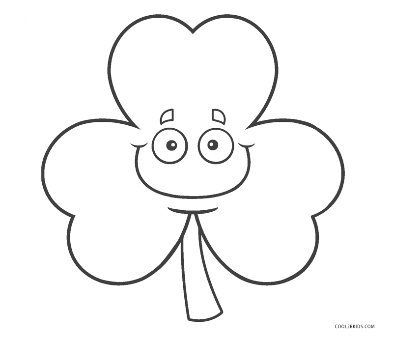 free printable shamrock coloring pages for kids cool2bkids