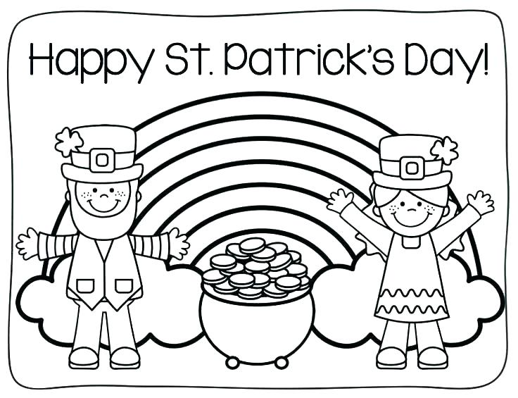 free printable st patrick day coloring pages at getdrawings
