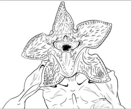 free printable stranger things coloring pages