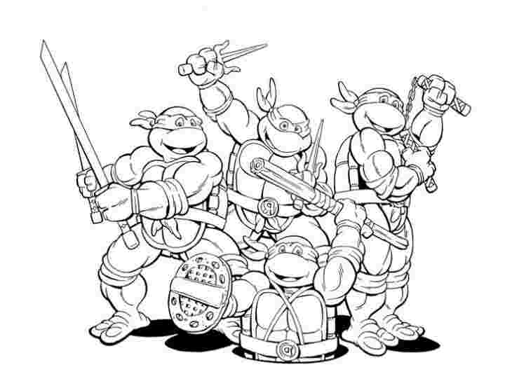 free printable teenage mutant ninja turtles coloring sheets