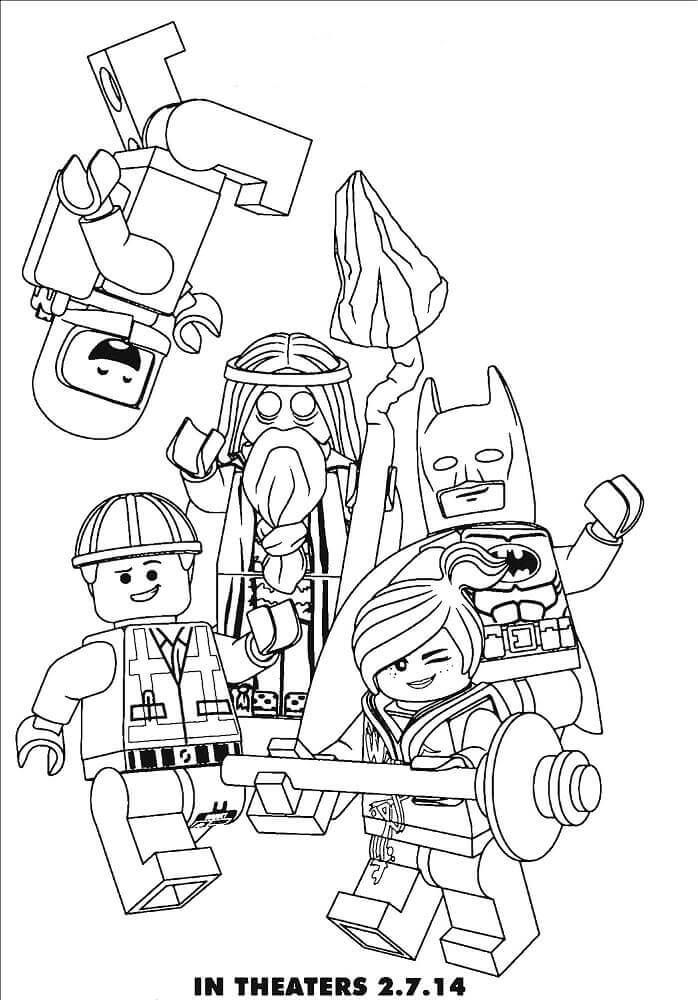 free printable the lego movie second part coloring pages