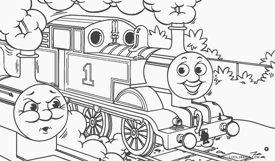 free printable thomas the train coloring pages for kids