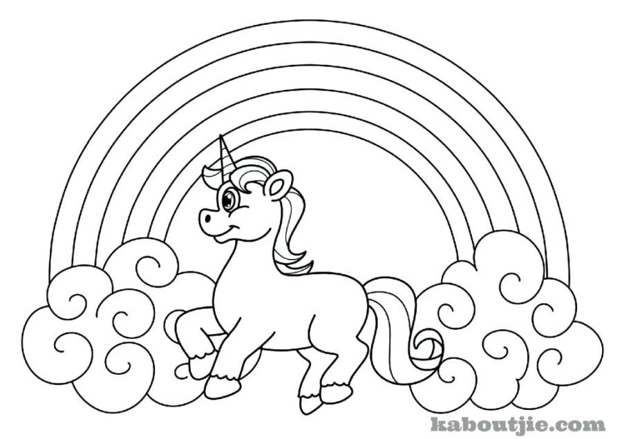 free printable unicorn coloring pages rainbow cat