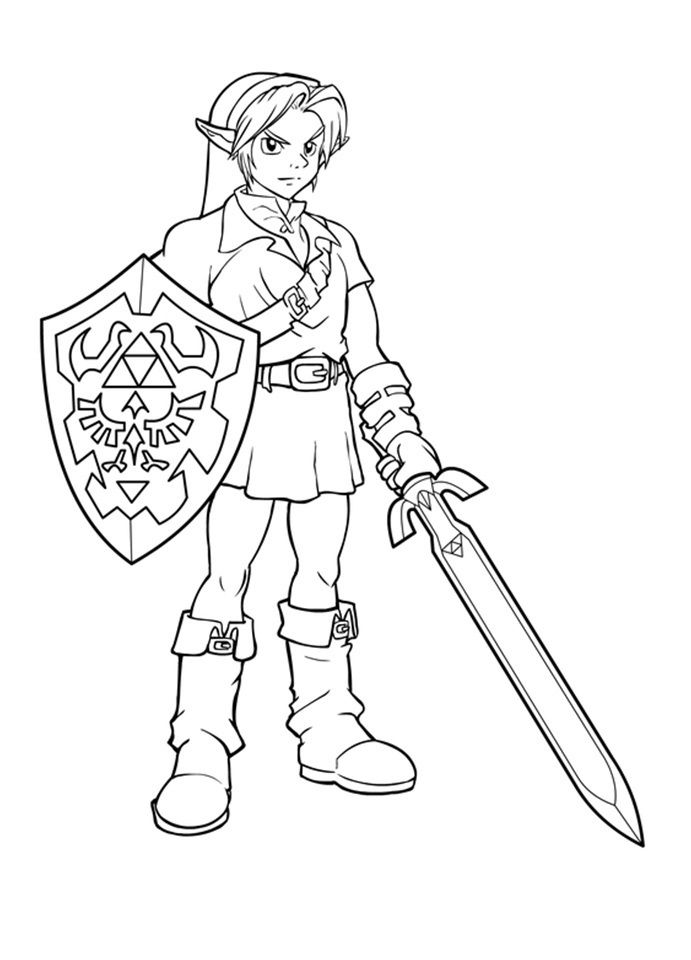 free printable zelda coloring pages for kids ausmalbilder
