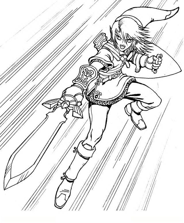 free printable zelda coloring pages for kids coloring