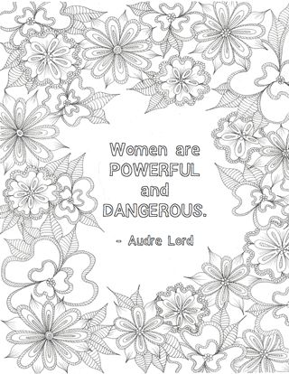 free printables feminist colouring pages free adult