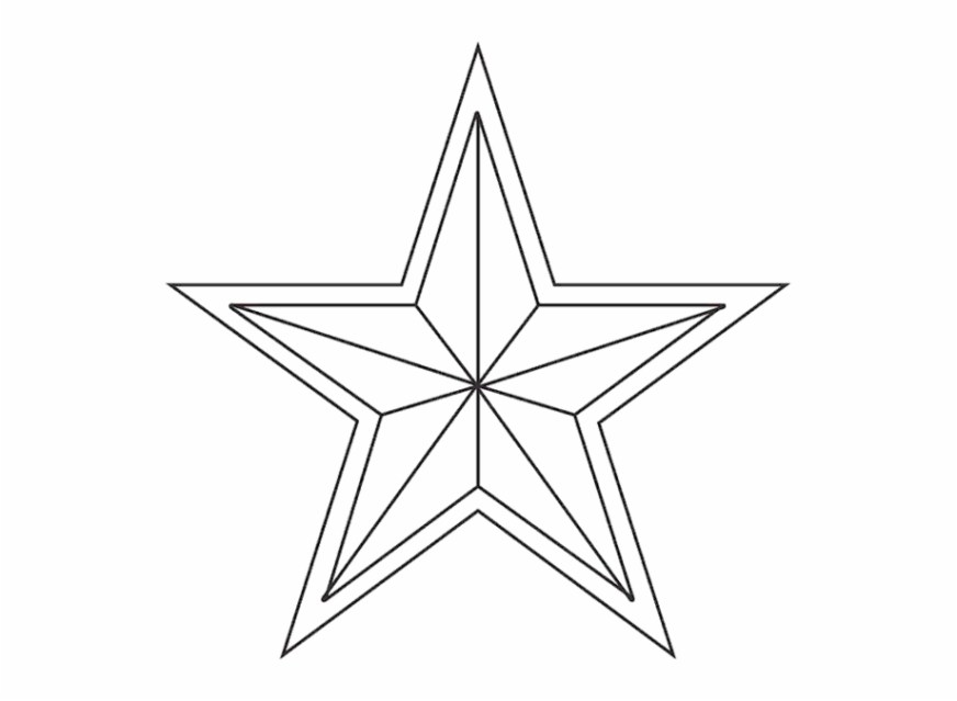 free star coloring pages to print pusat hobi