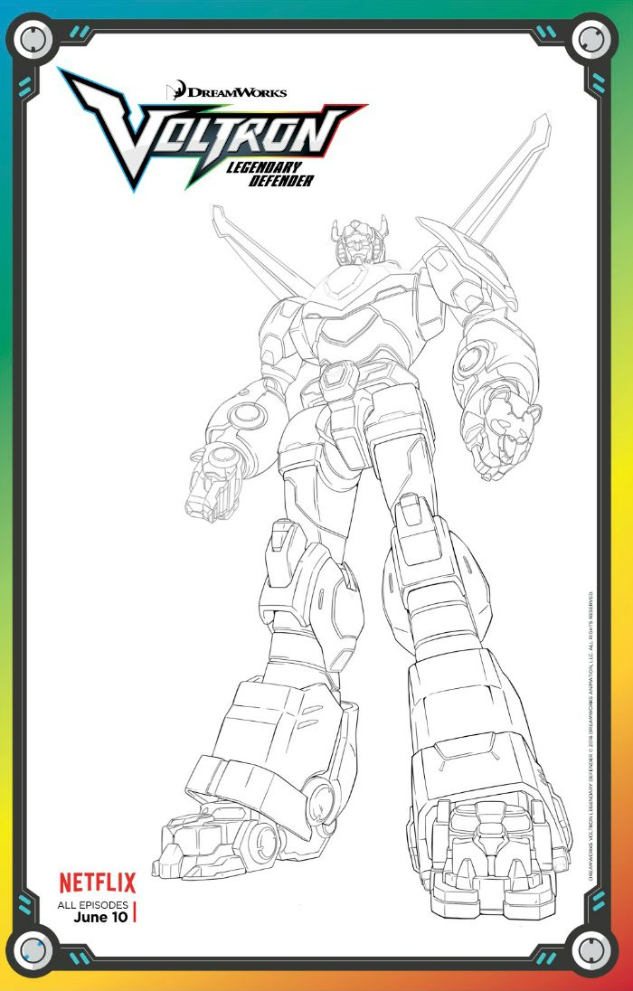 free voltron legendary defender coloring page lion