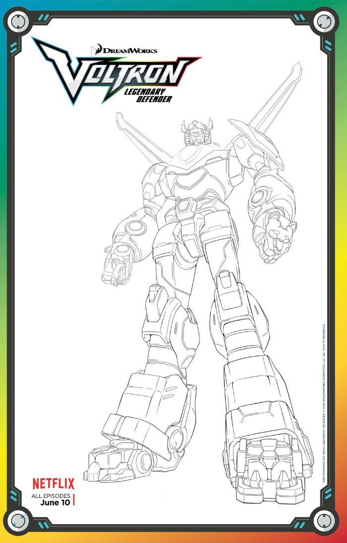 free voltron legendary defender coloring page lion