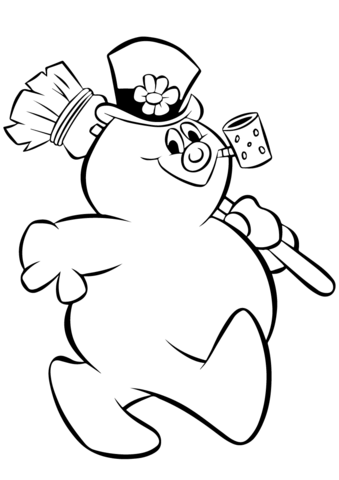frosty snowman coloring page free printable coloring pages