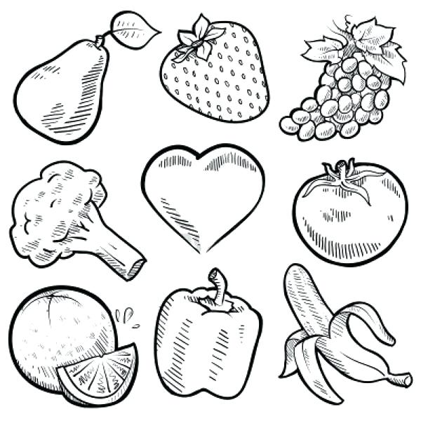 fruit and vegetable coloring sheets fionajessicawilson