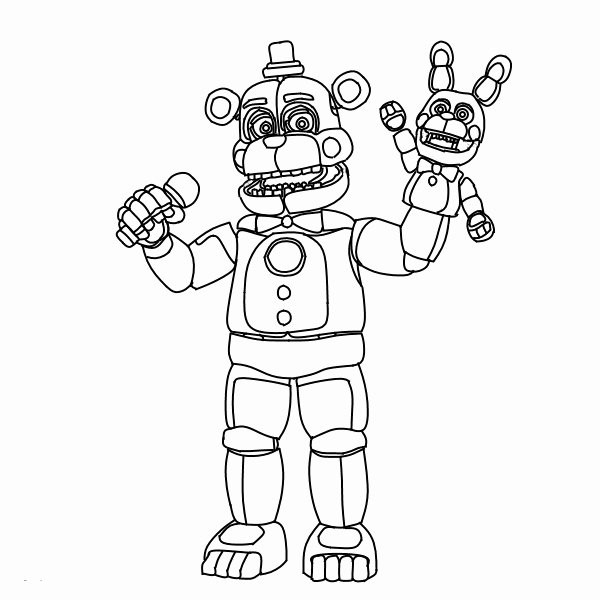 funtime freddy coloring page awesome fnaf coloring pages