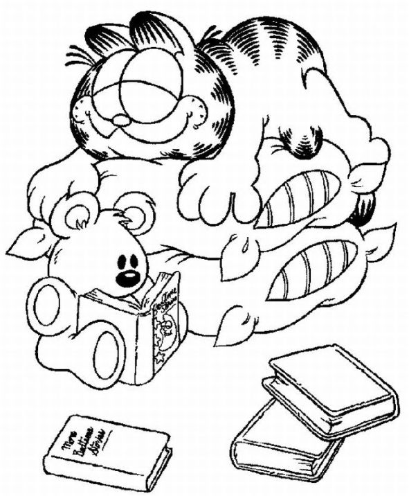 garfield coloring pages learn to coloring