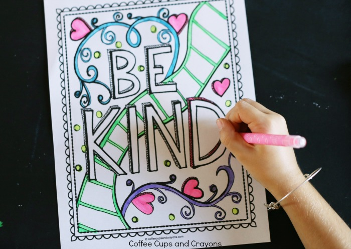 get kids excited about doing good with a kindness coloring