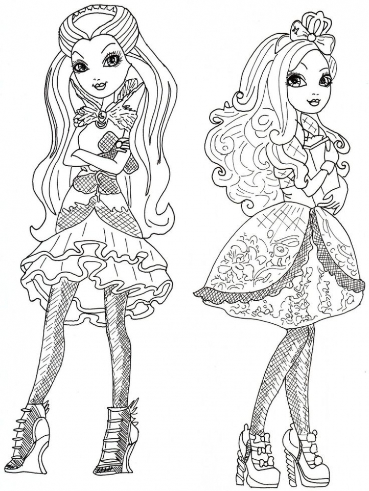 get this free ever after high coloring pages 39747