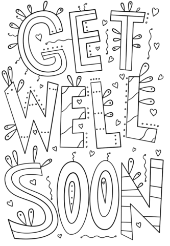 get well coloring pages get well soon coloring pages free