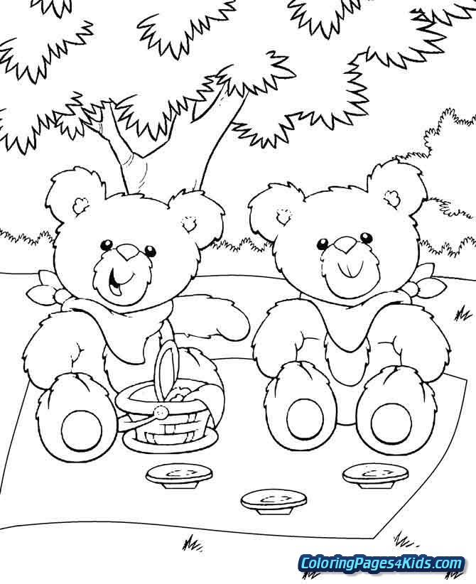 get well soon teddy bear coloring pages free printable