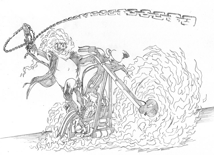 ghost rider 2 superheroes printable coloring pages
