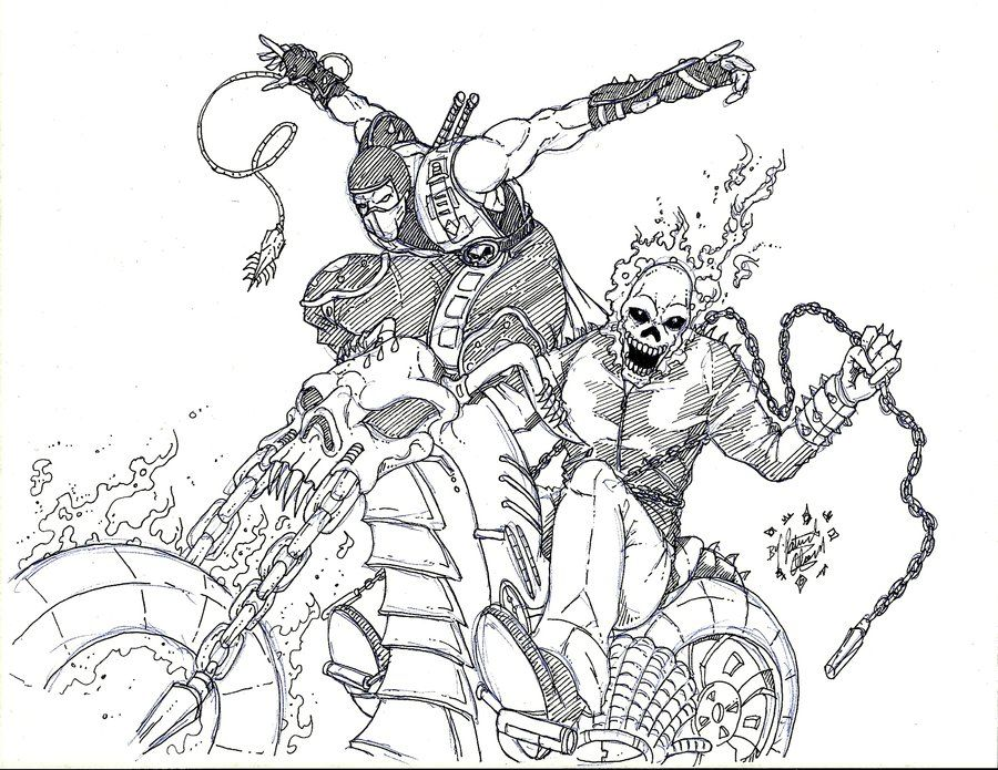 ghost rider coloring pages 2020