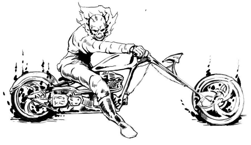 ghost rider coloring sheets google search ghost rider