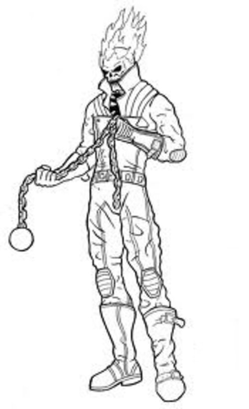 ghost rider superheroes printable coloring pages