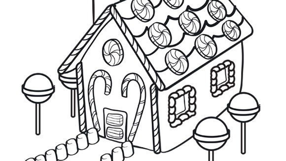 gingerbread house coloring pages for christmas christmas