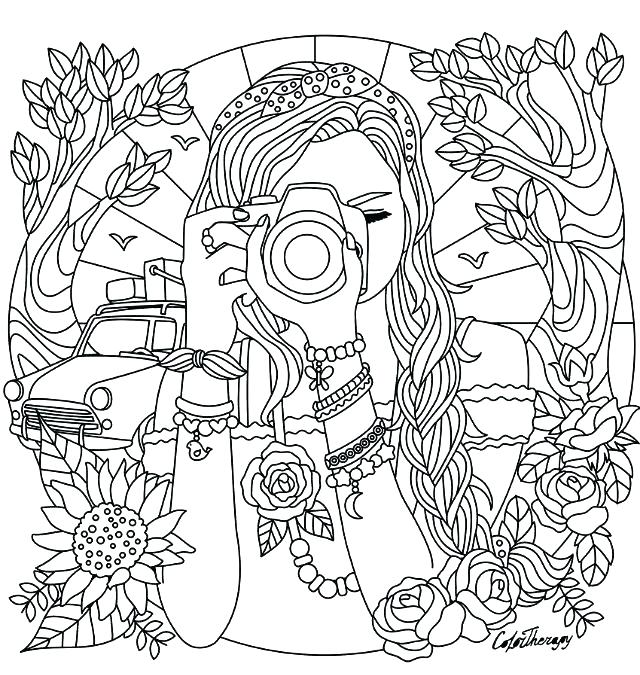 girly girl coloring pages
