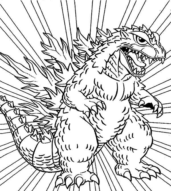 godzilla godzilla coloring pages for kids monster