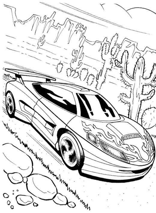 good looking car hot wheels coloring page ausmalbilder