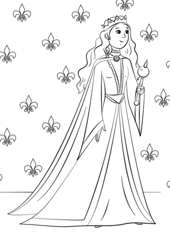 gorgeous queen coloring page free printable coloring pages