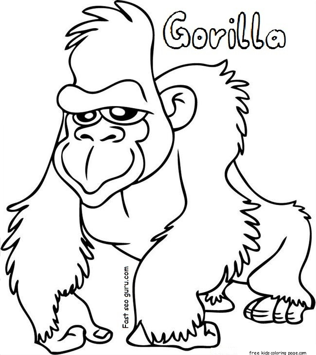 gorilla coloring pages for preschoolers corinesombrun