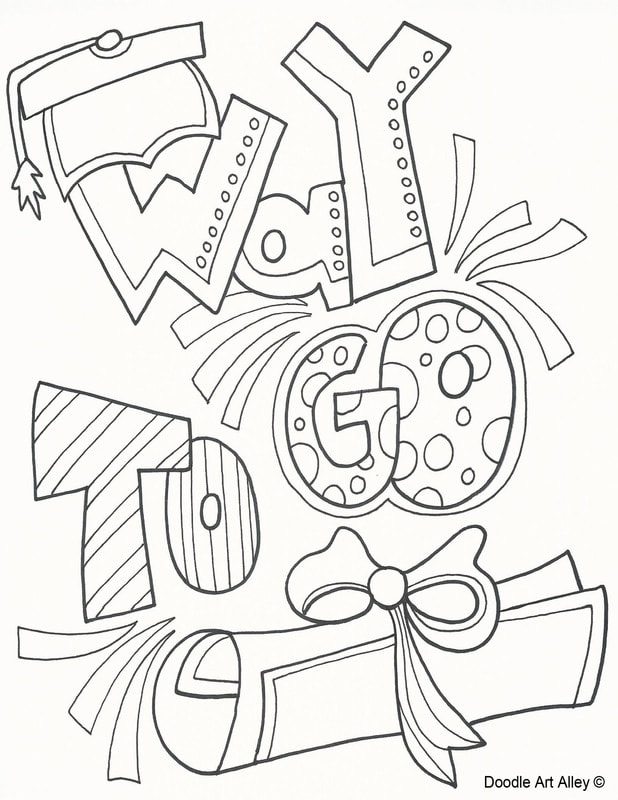graduation coloring pages and printables classroom doodles