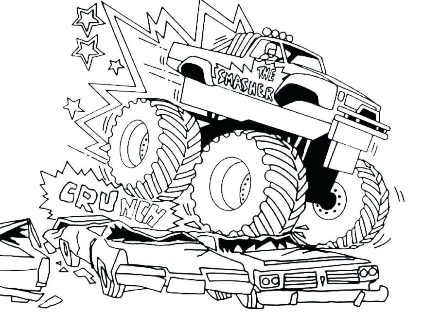 grave digger monster truck coloring pages sheets for kids