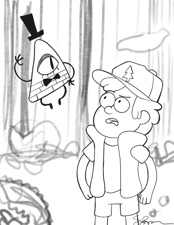 gravity falls coloring page