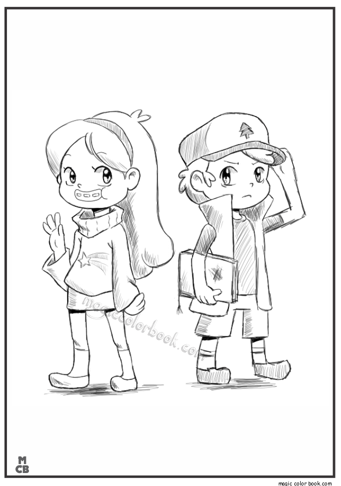 gravity falls coloring pages 05 coloring pages fall