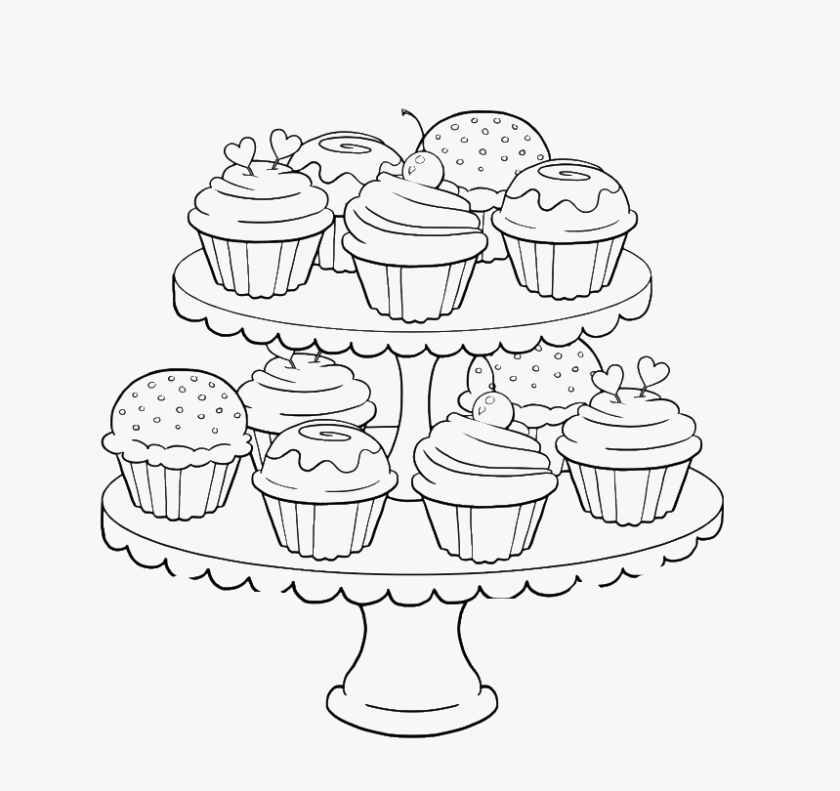 great happy birthday cupcake coloring pages coloring pages