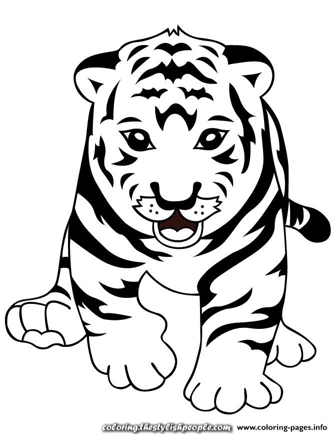great print tiger child coloring pages child coloring