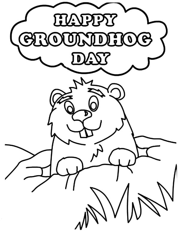 groundhog day free printable coloring pages