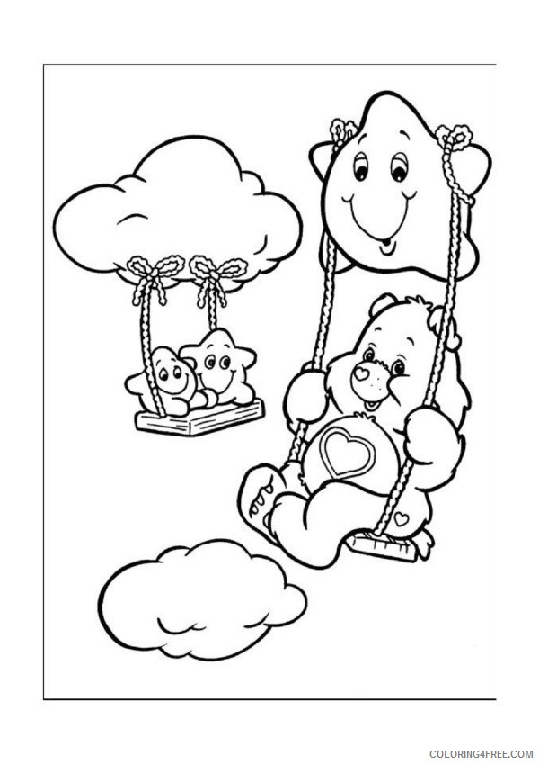 grumpy care bears coloring pages coloring4free