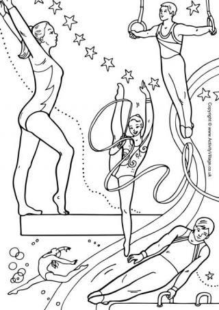 gymnastics coloring pages educ gymnastics crafts kids