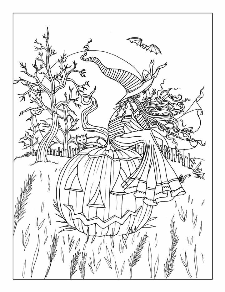 halloween coloring page for adults clip art library