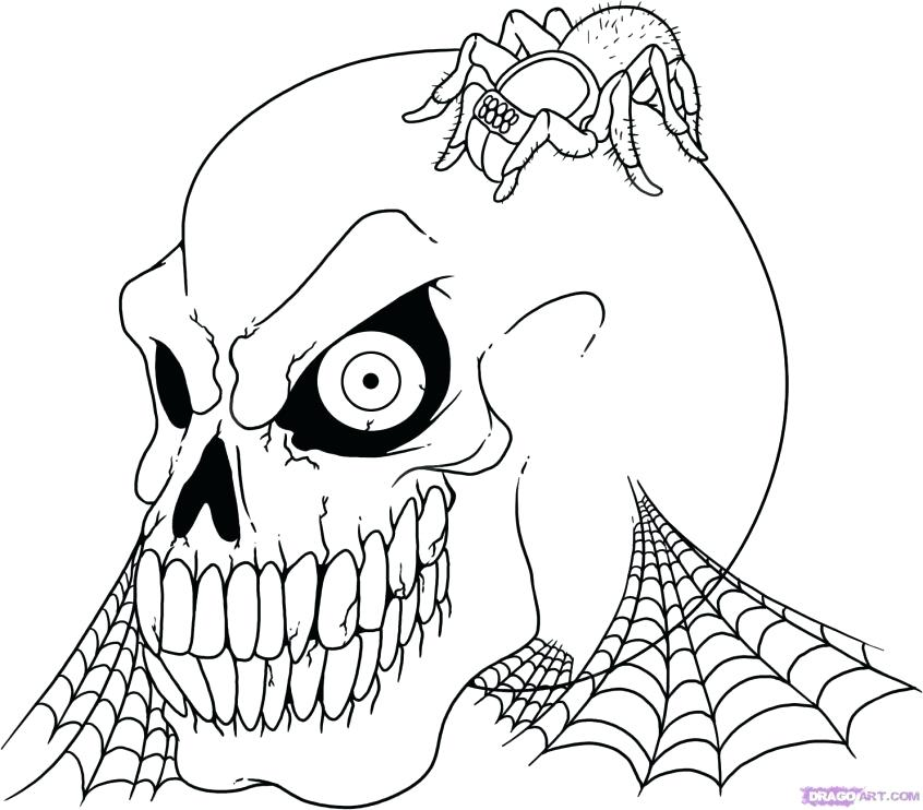 halloween scary coloring pages sheets printable lovely at