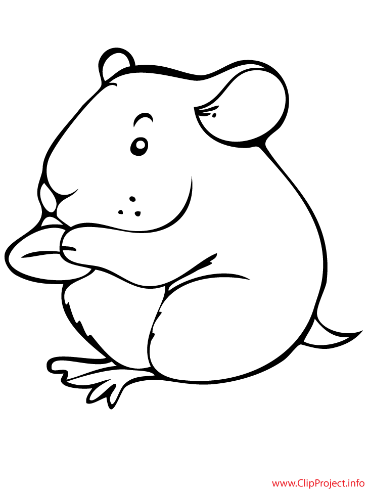 hamster cartoon printable coloring page