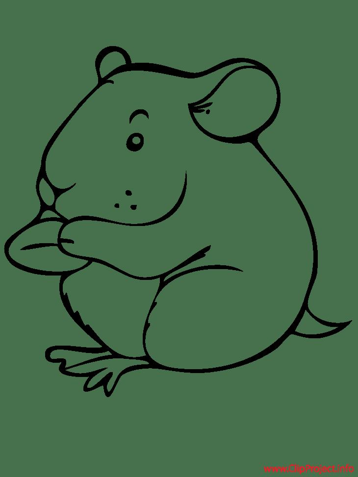 hamster cartoon printable coloring page