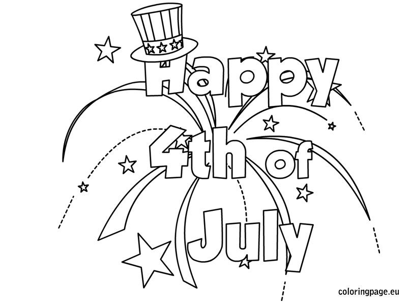 happy 4th july coloring 4th of july images coloring pages
