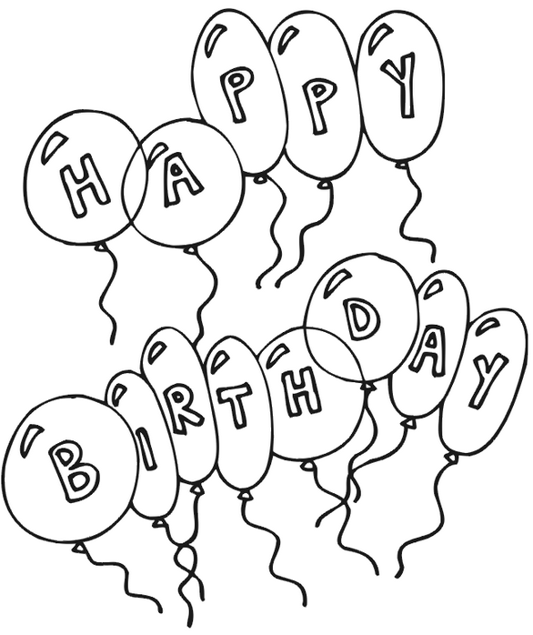 happy birthday coloring page coloring page book
