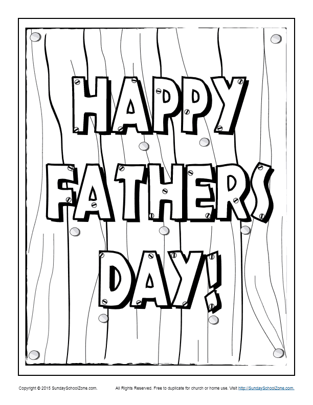 happy fathers day coloring page childrens bible