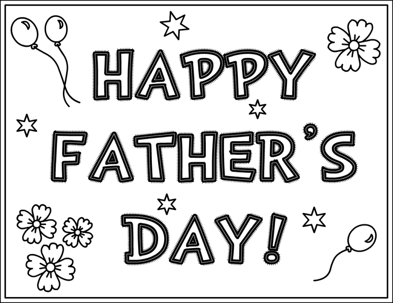 happy fathers day coloring pages sheets 2019 free download